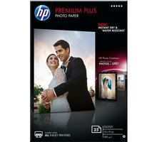 HP Premium Plus Glossy Photo Paper, 10x15 cm, 300 g/m2, 25 listů - CR677A