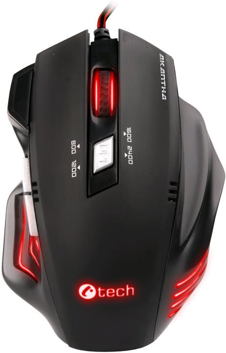 C-TECH Akantha, červené LED