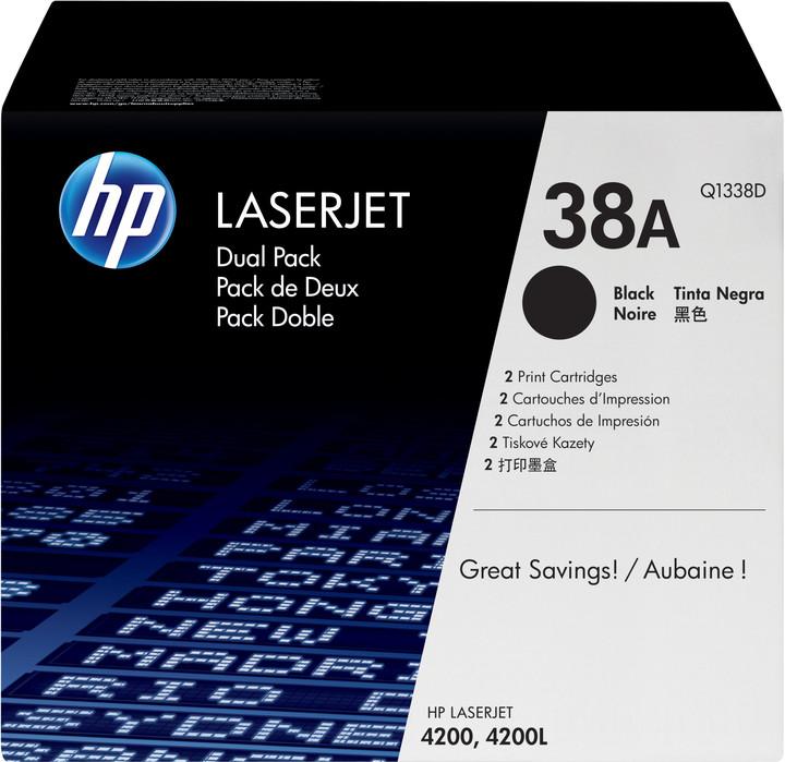 HP Q1338D, černá, dual pack