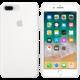 Apple silikonový kryt na iPhone 8 Plus / 7 Plus, bílá