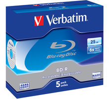Verbatim BD-R, 6x, 25GB, 5 ks, jewel - 43715