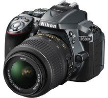 Nikon D5300 + 18-55 VR AF-P, šedá - VBA372K004