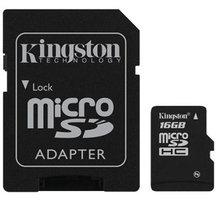 Kingston Micro SDHC 16GB Class 4 + SD adaptér - SDC4/16GB