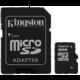 Kingston Micro SDHC 16GB Class 4 + SD adaptér