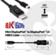 Club3D Mini DisplayPort 1.4 na DisplayPort 1.4, podpora 8k/60H, 2m