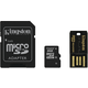 Kingston Micro SDHC 8GB Class 10 + SD adaptér + USB čtečka