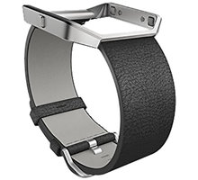 Fitbit Blaze Accessory Band, S, leather, černá - FB159LBBKS