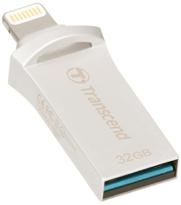 Transcend JetDrive Go 500 - 32GB, stříbrná