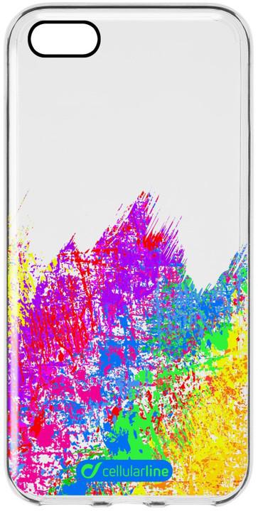 Cellularline STYLE průhledné gelové pouzdro pro Apple iPhone 5/5S/SE, motiv ART