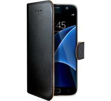 CELLY Wally pouzdro pro Samsung Galaxy S7, PU kůže, černá - WALLY590