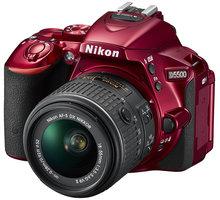 Nikon D5500 + 18-55 VR AF-P, červená - VBA441K003
