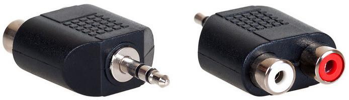 AQ KA406 - 3,5 jack stereo - 2x RCA (cinch)