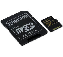 Kingston Micro SDXC 64GB UHS-I U3 + SD adaptér - SDCG/64GB