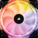 Corsair Air HD120 RGB LED High, 120mm, PWM with Controller