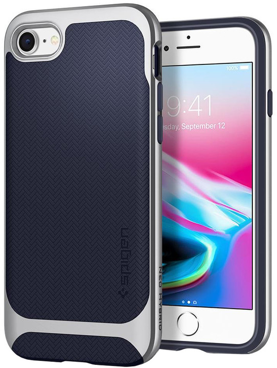 Spigen Neo Hybrid Herringbone iPhone 7/8, silver