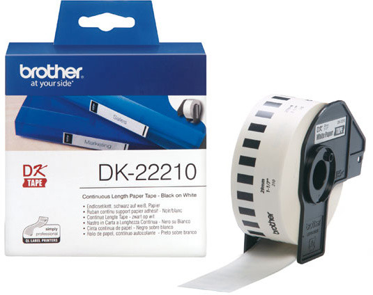 Brother - DK22210 (papírová role 29mm x 30,48m)