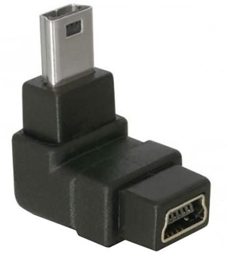 DeLock adaptér USB mini B 5-pin 90° samec na USB mini B samice