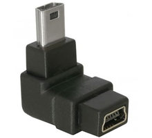 Delock adaptér USB mini B 5-pin 90° samec na USB mini B samice - 65097