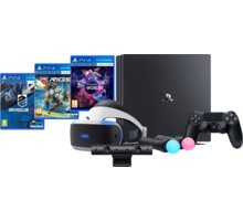 VR ULTIMATE SET - PS4 Pro, 1TB - PS719887256B3 + Virtuální brýle PlayStation VR + PlayStation 4 - Move Controller, twin pack, černý + PlayStation 4 - Kamera v2 + PlayStation VR Worlds (PS4 VR) + RIGS: Mechanized Combat League (PS4 VR) + Driveclub VR (PS4