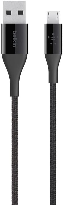 Belkin kabel Premium Kevlar USB-A 2.0 /microUSB, 1,2m - černý