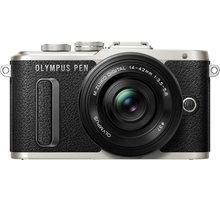 Olympus E-PL8 tělo + 14-42mm, černá/černá - V205082BE000