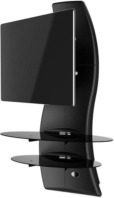 Meliconi 488088 GHOST DESIGN 2000 ROTATION Sestava pro TV a komponenty k instalaci na zeď, carbon