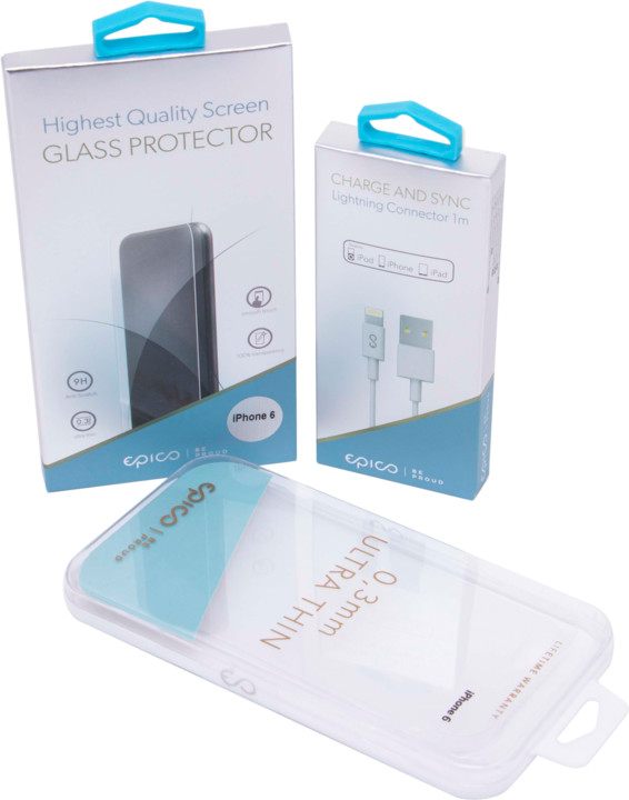 EPICO 3in1 CLEAR EDITION iPhone 6/6S - Case Matt + Cable MFI + Glass