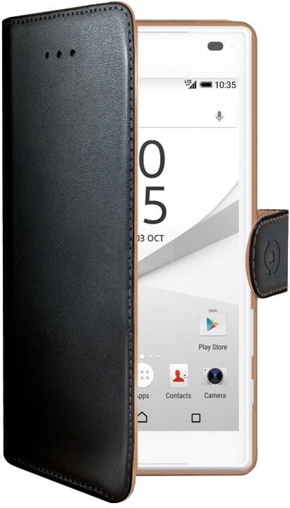 CELLY Wally pouzdro pro Sony Xperia Z5 Compact, PU kůže, černá