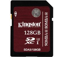 Kingston SDXC 128GB Class 10 UHS-I U3 - SDA3/128GB