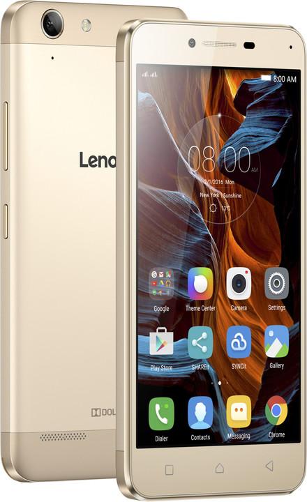 "Lenovo K5 5"" - 16GB, LTE, Dual SIM, zlatá"