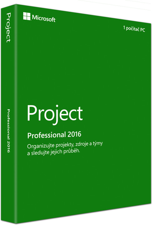 Microsoft Project Professional 2016, (nekompatibilní s Office 2013)
