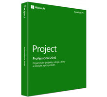 Microsoft Project Professional 2016, (nekompatibilní s Office 2013) - H30-05445