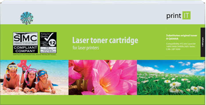 PRINT IT alternativní HP Q6000A CLJ2600 Black toner