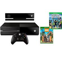 XBOX ONE, 500GB + Kinect + Kinect Sports Rivals + Zoo Tycoon - 7UV-00257 + Druhý ovladač Xbox, černý v ceně 1400 kč