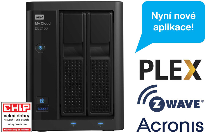 WD My Cloud DL 2100, 4TB (2x2TB)