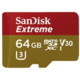 SanDisk Micro SDHC Extreme V30 64GB 90MB/s UHS-I U3, Rescue Pro Deluxe + SD adaptér