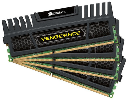 Corsair Vengeance Black 16GB (4x4GB) DDR3 1600