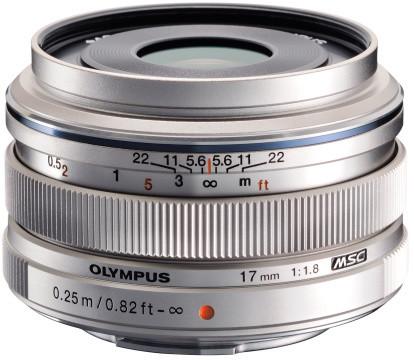 Olympus EW-M1718 - 17mm F1.8, stříbrná