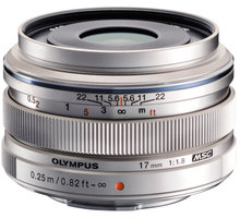Olympus EW-M1718 - 17mm F1.8, stříbrná - V311050SE000