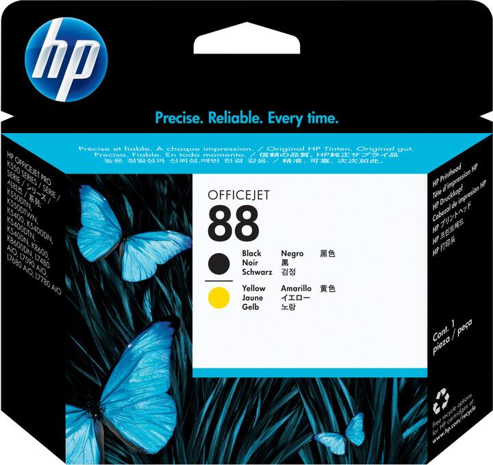 HP C9381A, no.88, tisková hlava, černá, žlutá