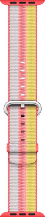 Apple watch náramek 42mm Red Woven Nylon