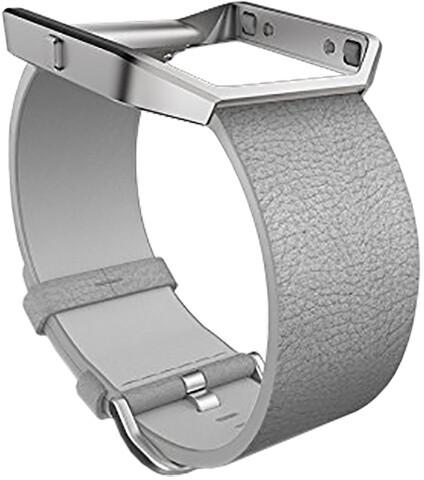 Fitbit Blaze, kožený řemínek S, šedá