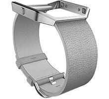 Fitbit Blaze, kožený řemínek L, šedá - FB159LBMGL