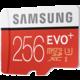 Samsung Micro SDXC EVO Plus 256GB UHS-I U3 + SD adaptér