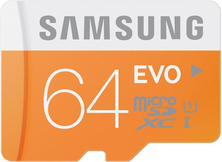 Samsung Micro SDXC EVO 64GB + SD adaptér