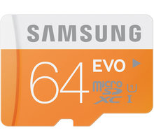 Samsung Micro SDXC EVO 64GB + SD adaptér - MB-MP64DA/EU