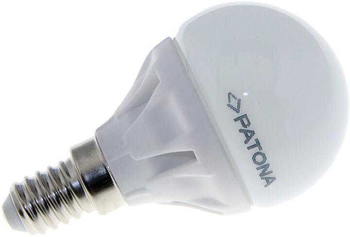 Patona E14/230V, G45, SMD2835, 4.5W, teplá bílá, 400lm