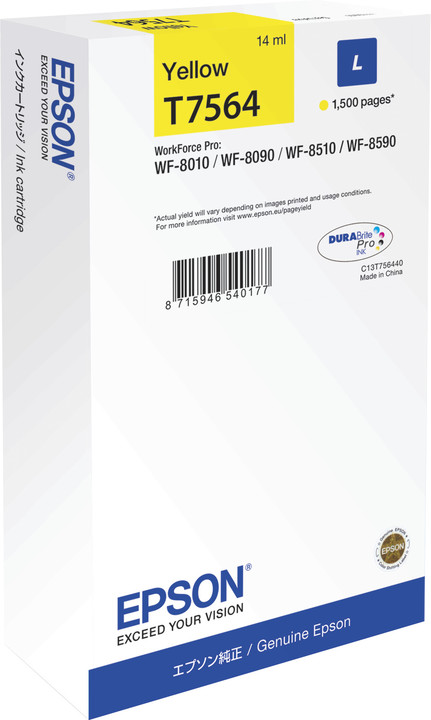 Epson C13T756440, žlutá