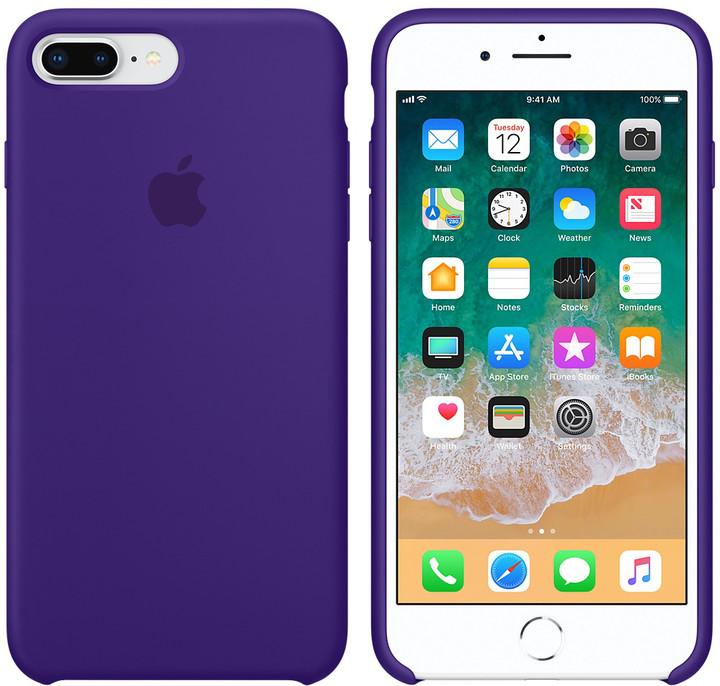 Apple silikonový kryt na iPhone 8 Plus / 7 Plus, tmavě fialová