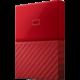 WD My Passport - 4TB, červená  + SanDisk Cruzer Blade - 16GB